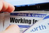 Op zoek naar een baan — Stockfoto