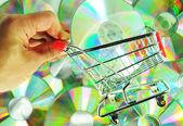 Music shopping — Stock Photo