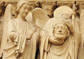 Architectural detail at Notre Dame, Paris (France) — Stock Photo