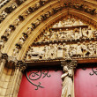 Stock Photo: Detail of Notre Dame cathedral in Paris