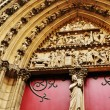 Detail of Notre Dame cathedral in Paris — Stock Photo