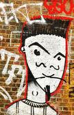 Graffiti portrait — Stock Photo