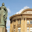Queen Victoria statue in Birmingham - Stock Photo
