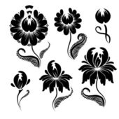 Floral graphic design elements vector — Stock Vector