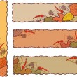 Royalty-Free Stock Imagen vectorial: Set of four autumn banners