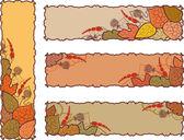 набор четырех осенью баннеров — Cтоковый вектор