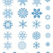 Set of blue snowflakes — Stock Vector