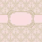 Template frame design for greeting card . — Stockvector