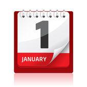 Calendar Icon — Stock Vector