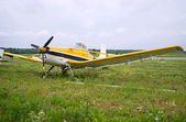 Light aircraft parked — Stock Photo