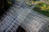 Metal mesh rolled into a ball — Stock Photo