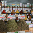 Many colorful oriental spices on a market — Stock Photo