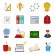 School and education icon set — Stock Vector #6827399