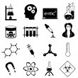 Science icon set — 图库照片 #6915827