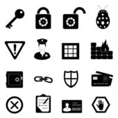 Security and safety icon set — Stock Photo