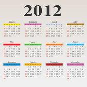 2012 kalender — Stockvektor