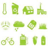 Eco and recycling icon set — Stock Vector