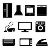 Household appliances — Stock Vector