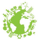 Green clean environment — Stock Vector