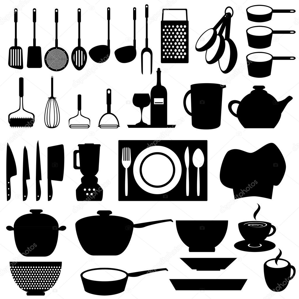 Kitchen utensils and tools | Stock Vector © soleilc #