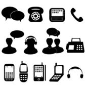 Telephone and communication icons — Stock Vector
