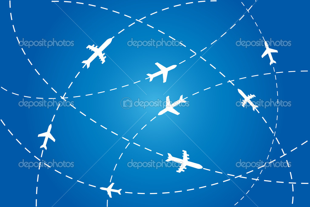Planes en route to their destination — Stock Vector #7606786