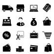 Shopping icon set — Stock vektor
