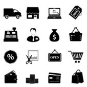 Shopping icon set — Stockvector