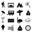 Leisure and recreation icon set - Stock Vector