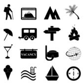 Leisure and recreation icon set — Stock Vector
