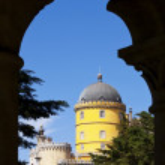 Pena Palace seen through an arch — Stock Photo #6828323