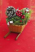 Back of Christmas sled — Stock Photo
