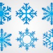 Vector christmas snowflake — Stock Vector