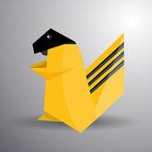 Origami animais de vetor — Vetor de Stock