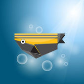 Vector origami fish — Stock Vector