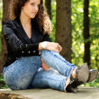 Girl on a bench — Stock Photo #6952253