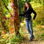 Girl in autumn park — Stock Photo #6952261