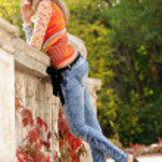 Girl near handrails — Stock Photo #6952284