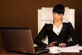 A female boss — Stock Photo