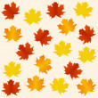 Autumn seamless background - Stock Vector