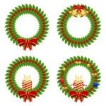 Holly wreath — Stock Vector #7523052