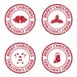 Stock Vector: Christmas rubber stamps