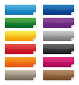 Colorful labels — Stock Vector