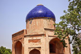 Ancient Blue Dome Sabz Subz Burj Mughal Tomb New Delhi India — Stock Photo