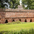 Stock Photo: Stone Ramparts Sikandar Lodi Tomb Gardens New Delhi India