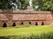Stone Ramparts Sikandar Lodi Tomb Gardens New Delhi India — Stock Photo