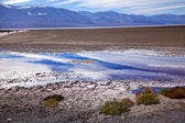 Badwater panamint góry death valley national park fisherman 's — Zdjęcie stockowe