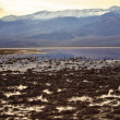 Badwater with Black Mountains Death Valley National Park Califor — стоковое фото #7867554