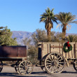 Christmas Borax Wagons Death Valley National Park California - Stock Photo