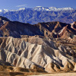 Stock Photo: Zabruski Point Snowy Panamint Mountains Death Valley National Pa